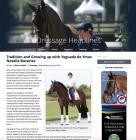 Articulo de Natalia Bacariza en Dressage Headlines por Besty LaBelle.